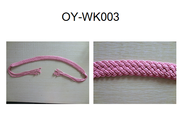 Knitting wax rope belt